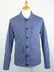Langley FARAH 1920 retro mod stripe work jacket from Atom Retro £77