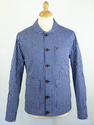 Langley FARAH 1920 retro mod stripe work jacket from Atom Retro £77