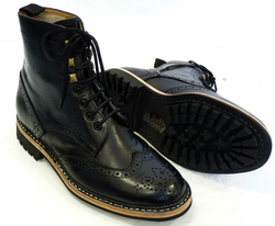 Ike PAOLO VANDINI retro indie Mod brogue boots from Atom Retro £77