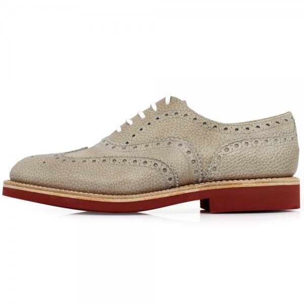Churchs downtown dirty white brogue shoes £212 from Stuarts London