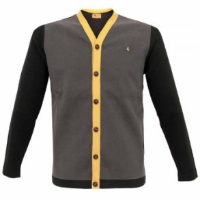 Gabicci Vintage suede Knit Black Cardigan from Stuarts London £49.99