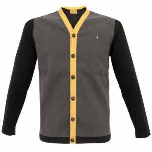 Gabicci Vintage suede Knit Black Cardigan from Stuarts London £49.99