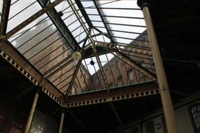 The glass ceiling inside the Light House Media Centre