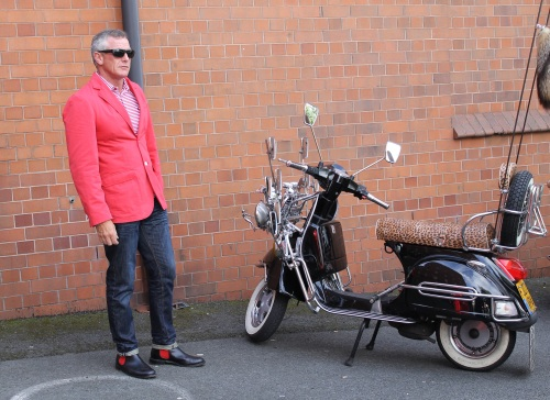 George with the winning scooter