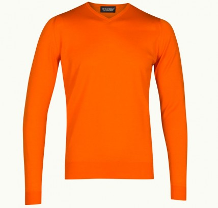 John Smedley ASHMOUNT merino wool sweater in Papaya (other colours available) £78