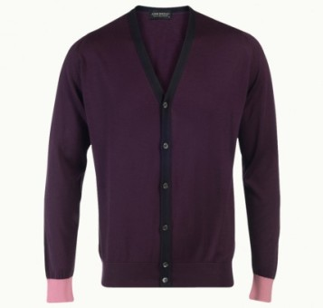 John Smedley GAGE in black grape (other colours available) sea island cotton cardigan £90