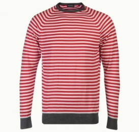 John Smedley LONGNOR candy stripe sweater in sea island cotton £81