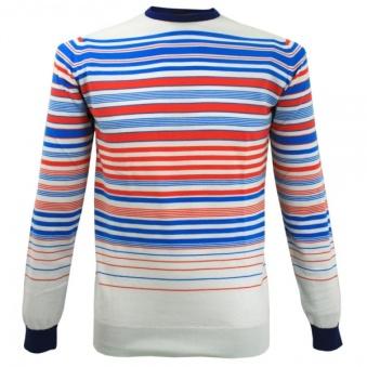 John Smedley striped dusk pullover from Stuarts London £59.99