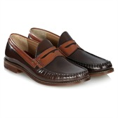 Merc bi-colour penny loafer £59