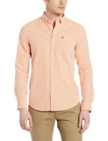 Original Penguin Basic gingham shirt in coral £18 (other colours available)