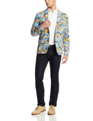 Original Penguin Faded Denim Floral Jacket £60