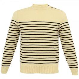 Saint James ecru marine wool jumper from Stuarts London £79.99