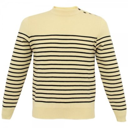 Saint James ecru marine wool jumper from Stuarts London £79.99