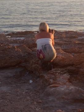 Catching the sunset at the beach, Cala Gracio/San Antonio