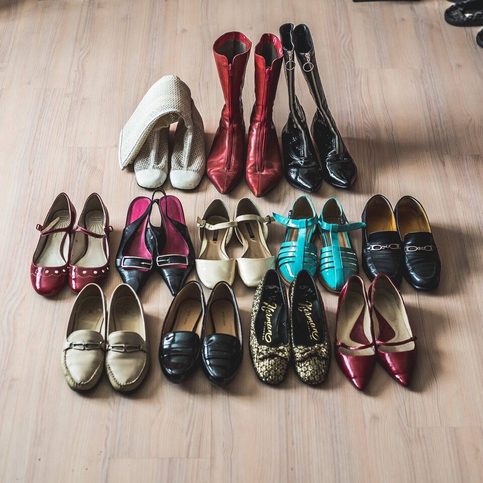 A selection of Margot's vintage shoe collection