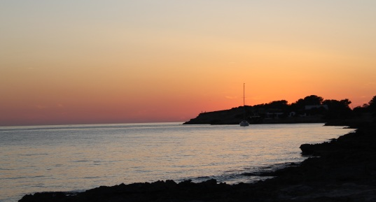 Beach sunset Cala Gracio/San Antonio