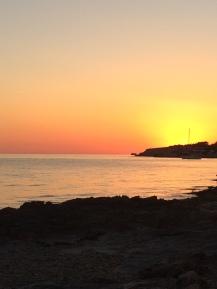 Beach sunset Cala Gracio/San Antonio