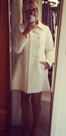 Winter white coat £9