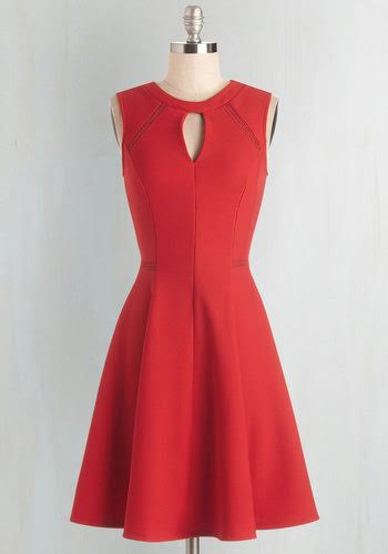 Click Penny's red dress to buy it from Mod Cloth
